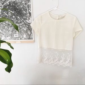 Urban Outfitters white blouse w/ lace 💫